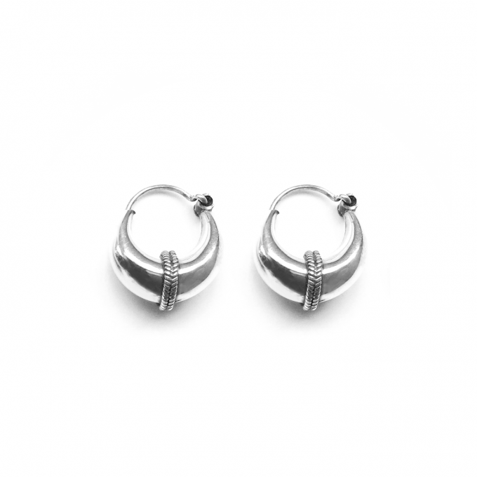 Tribal Earring 12mm Silver