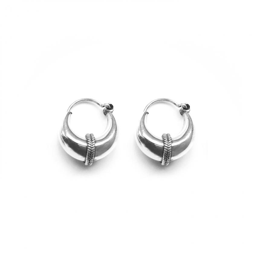 Tribal Earring 12mm Silver