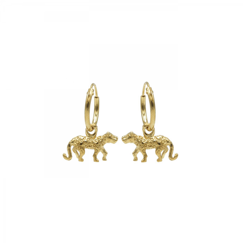 Panther Body Hoops Goldplated