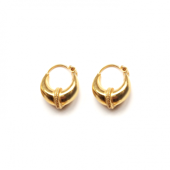 Tribal Earring 12mm Goldplated