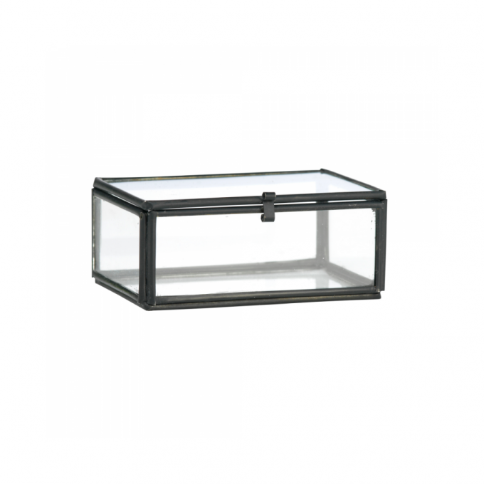 zwart glazen kistje mini