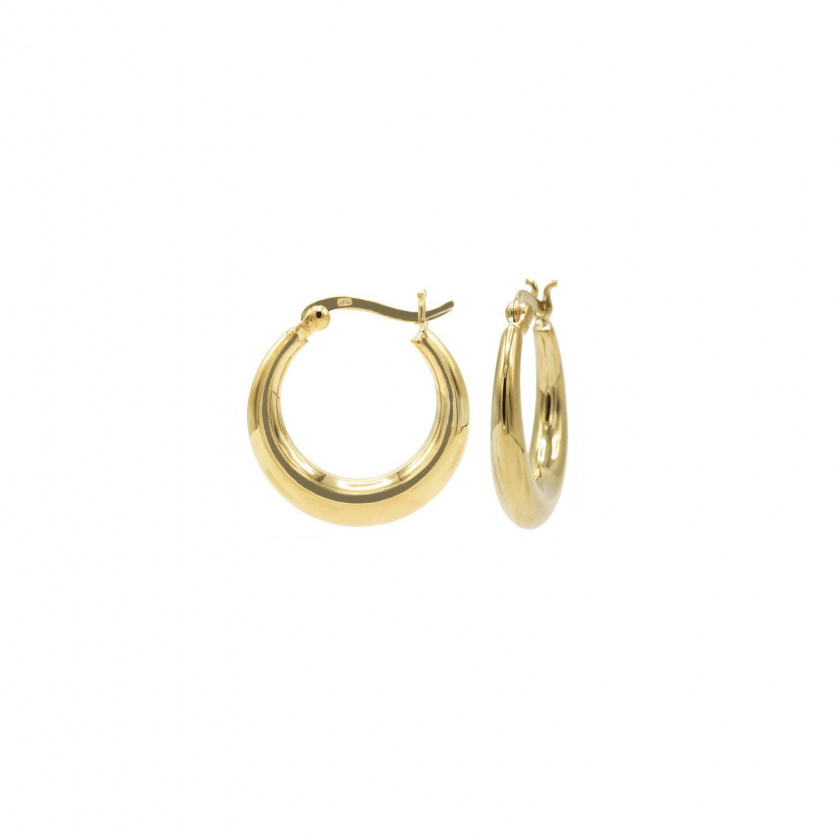 Plain Thick Hoops 14 mm Goldplated