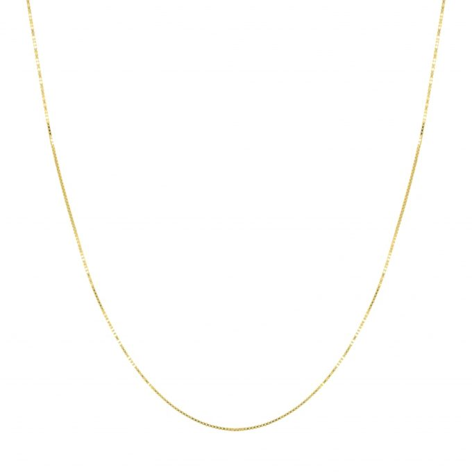 Box Necklace Goldplated