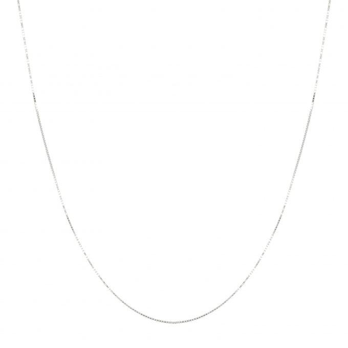 Box Necklace Silver