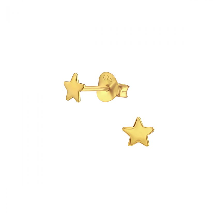 Star studs goldplated