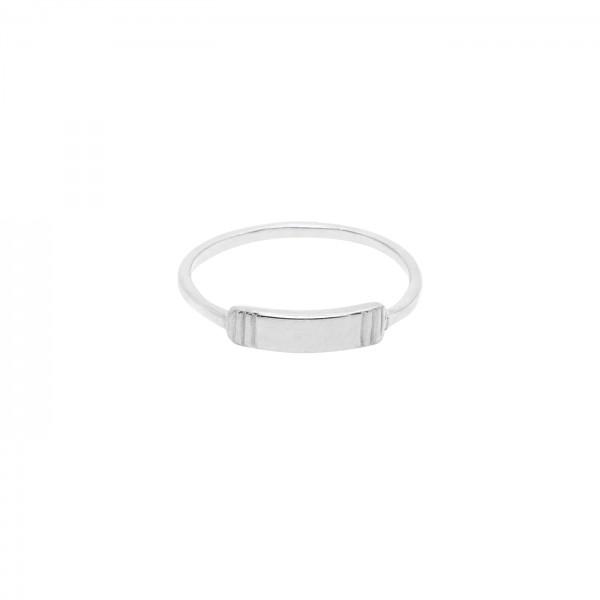 Modern Plate Ring Silver