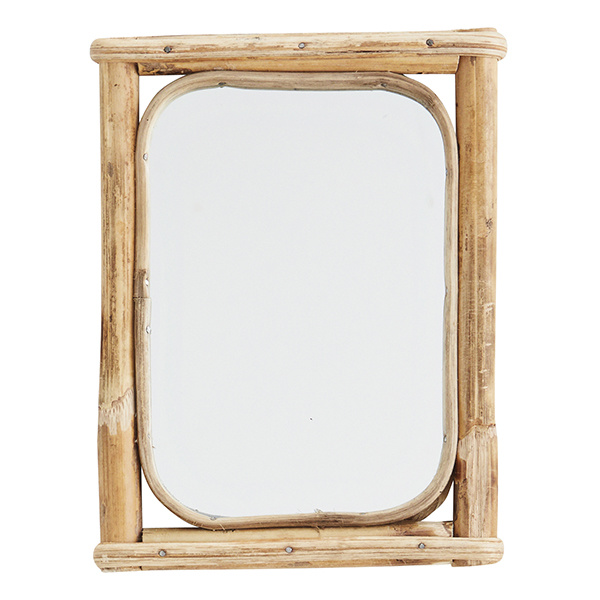 Hanging Mirror With Bamboo