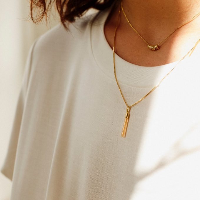 Connected Necklace Goldplated