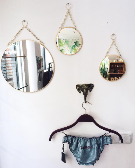 ronde kleine spiegel
