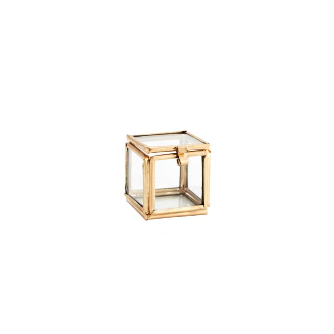 glazen doosje voor trouw ringen