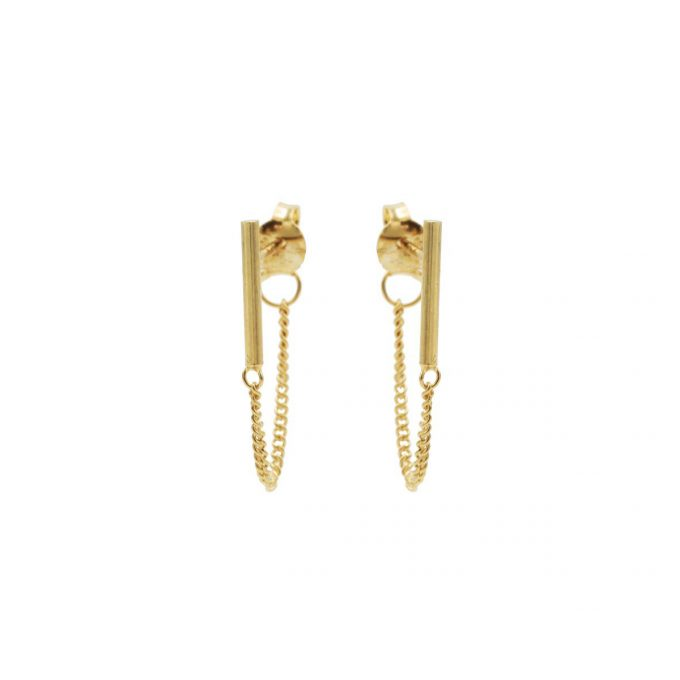 Bar Chain Earrings Goldplated