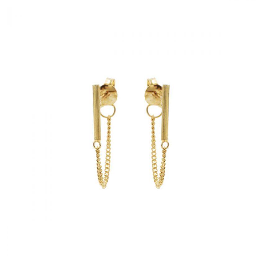 Bar Chain Earrings Goldplated
