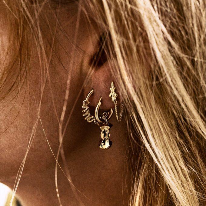 Eden Chain Earring Silver