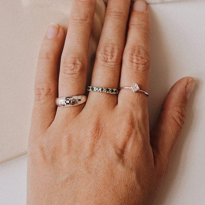 Molly Onyx Ring Silver