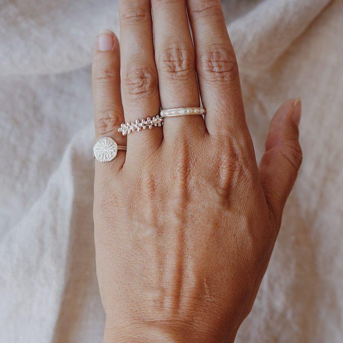 Mer Ring Silver