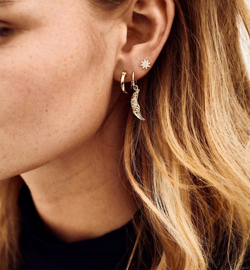 Single Wonderland Ring Earring Goldplated