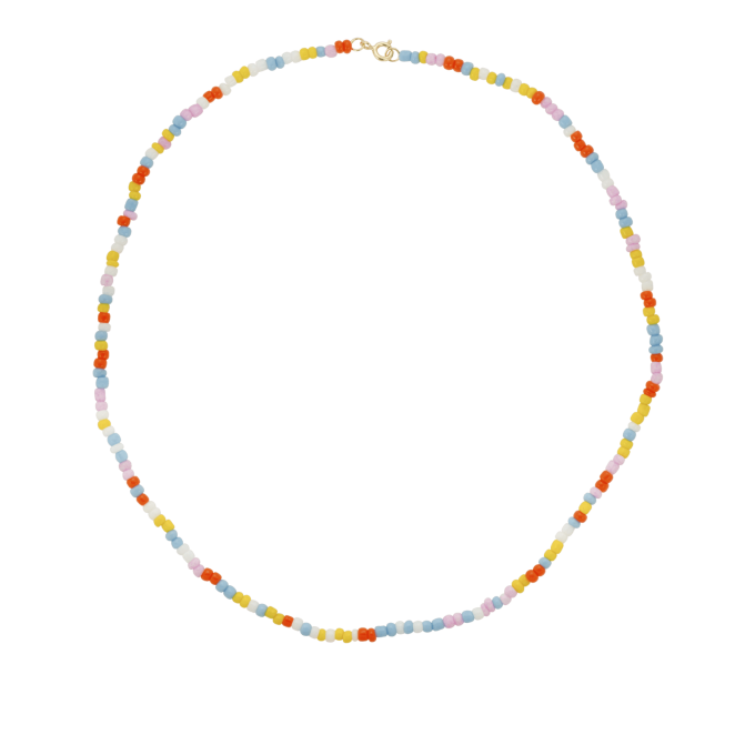 Coloured Dream Necklace Goldplated