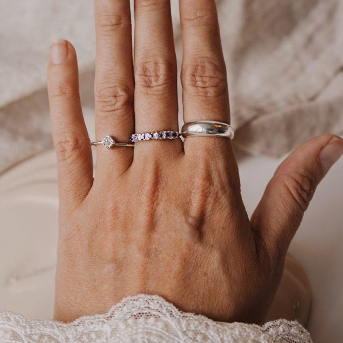 Sterling zilveren ringen dik