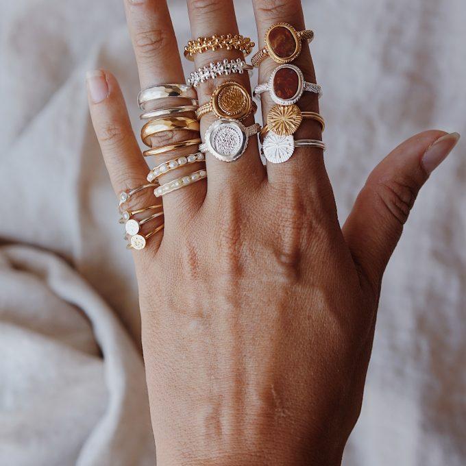 Vintage ringen goud zilver moonloft
