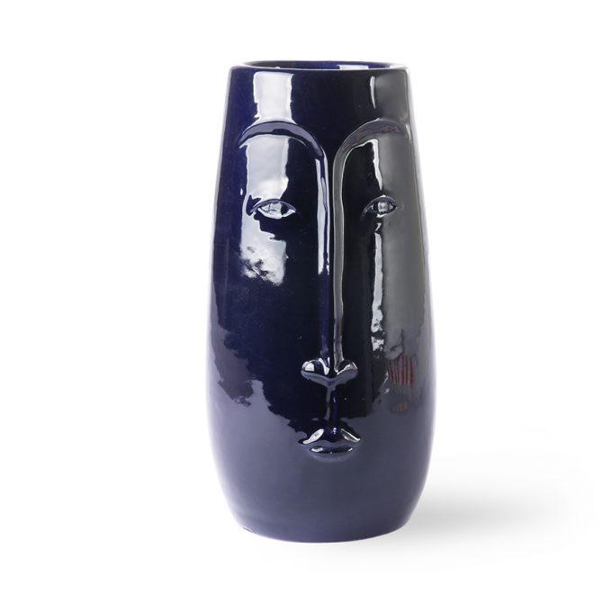 Vase Face Azul