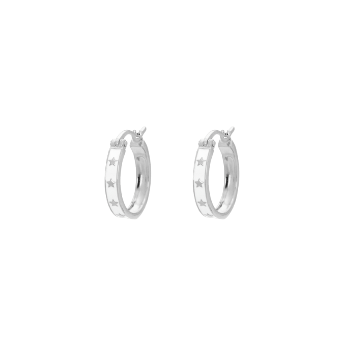 Midnight Ring Earrings Silver