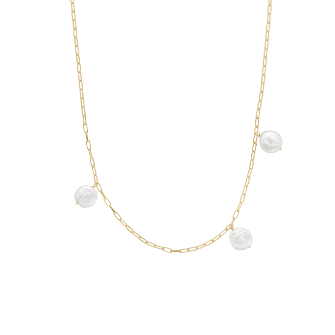 Never Enough Pearls Necklace Goldplated