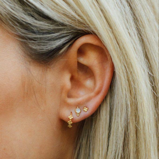 Mini Flowers Earrings Silver