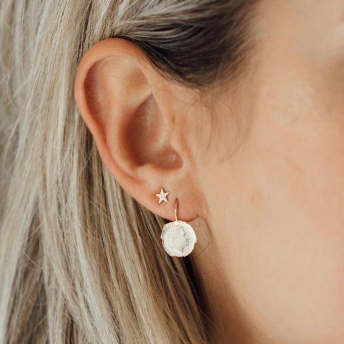 Ten Cent Earring Silver