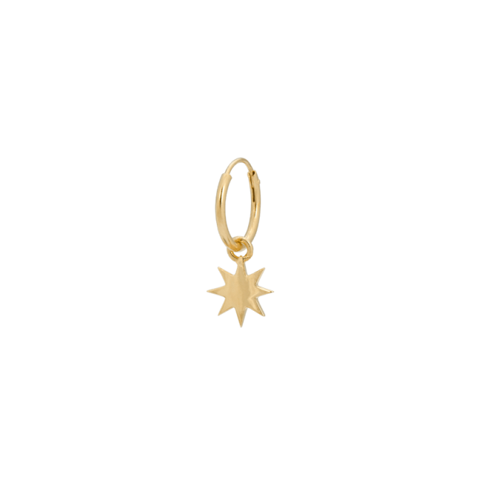 Single Nova Ring Earring Goldplated