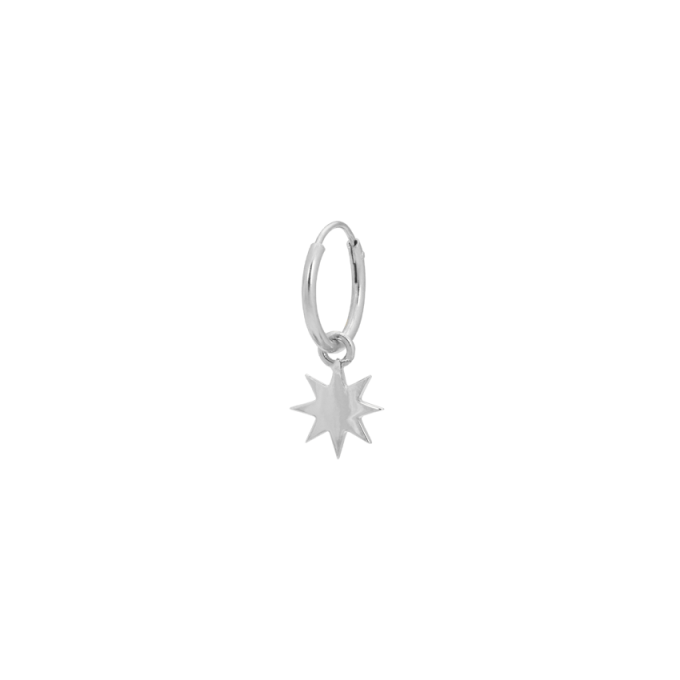 Single Nova Ring Earring Silver