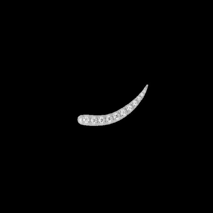 Single Zirconia Sparkle Hook Silver