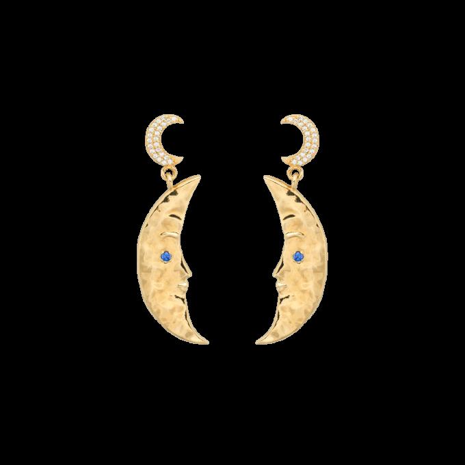Wonderland Dangles Brass Goldplated