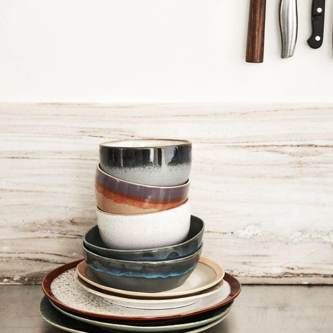 Ceramic 70's Dinner Plate - Frost