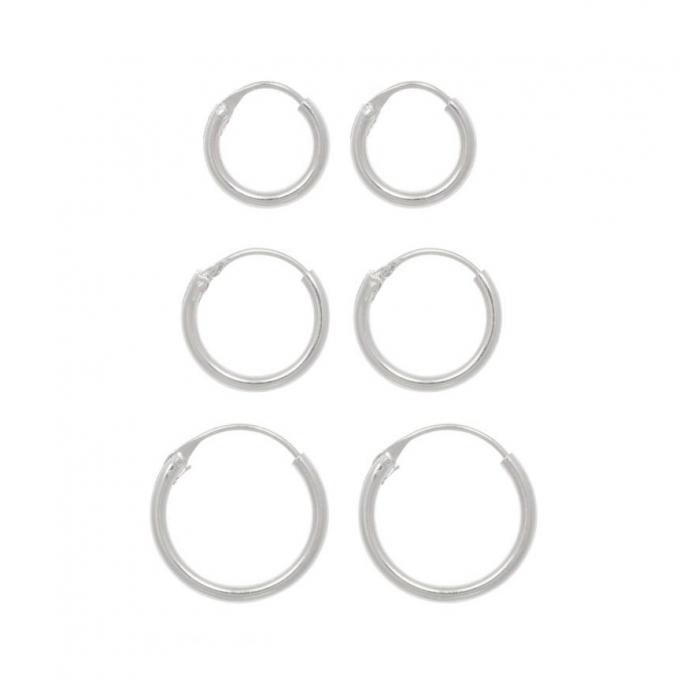 8mm, 10mm, 12mm sterling zilver hoops