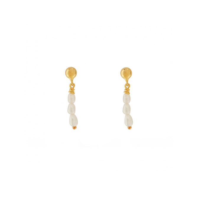 Multi Pearls Goldplated