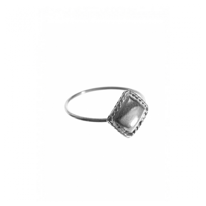 Vintage Square Ring Silver