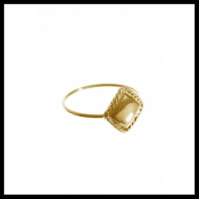 Vintage Square Ring Brass