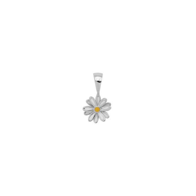 Daisy Necklace Charm Silver