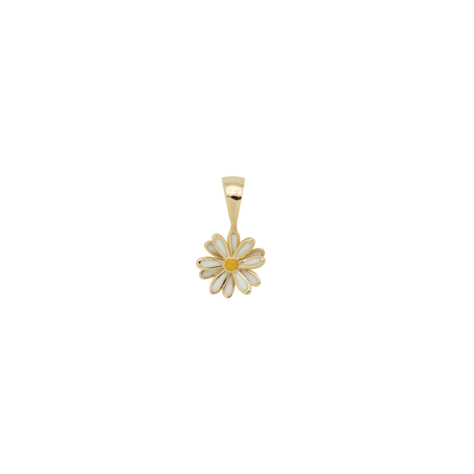 Daisy Necklace Charm Goldplated