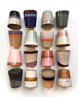 Ceramic 70's Mug - Pink