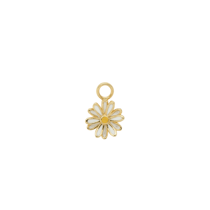Daisy Earring Charm Goldplated