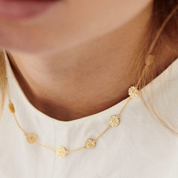 Daisy Necklace Goldplated