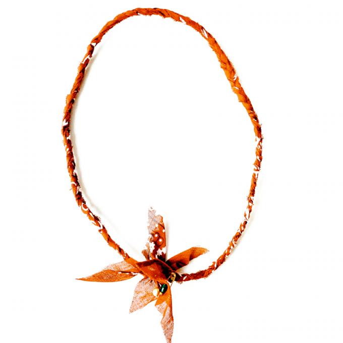 Saturdays & Sundays Vintage Necklace - Dark Orange