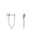 Wieber Chain with Pearls Studs Silver