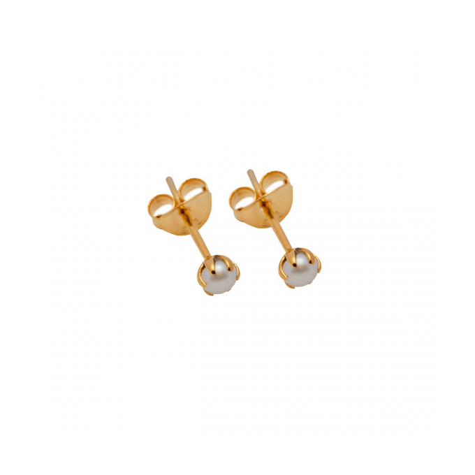 Tiny Pearl Stud Goldplated