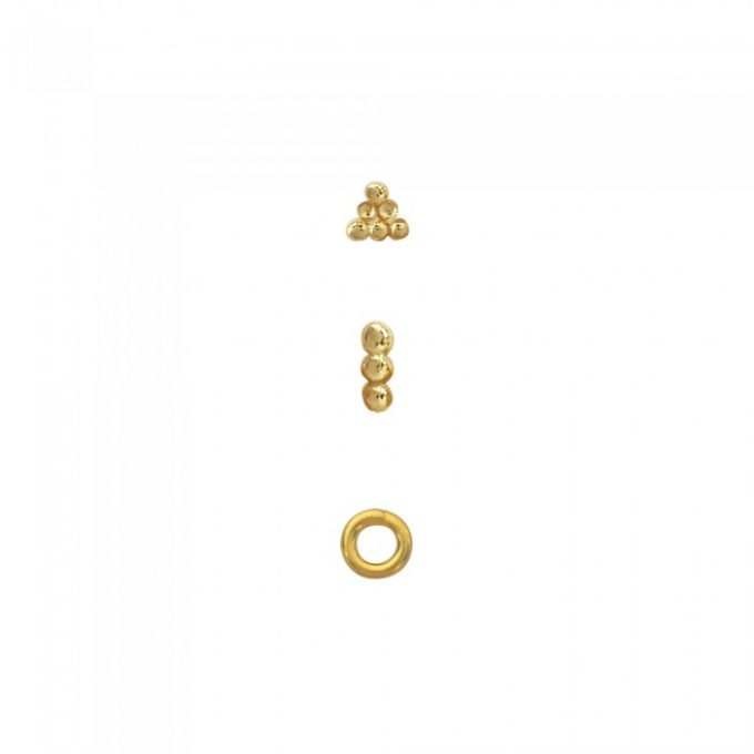 Earcandy Bar Dots Goldplated