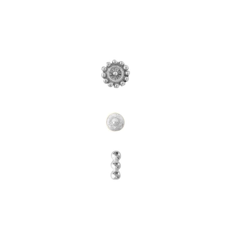 Earcandy Flower Xs Silver