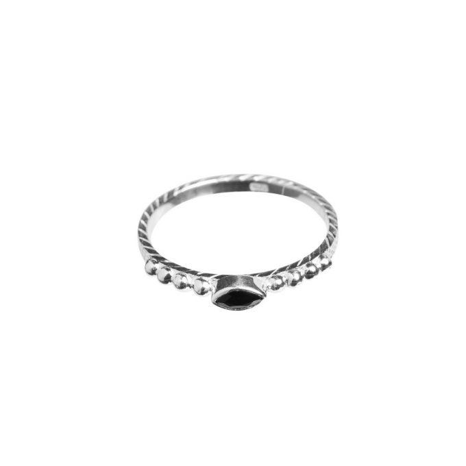 Onyx Eyeshape Dots Silver