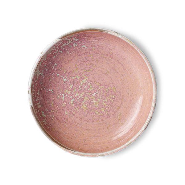 Home Chef Ceramics Deep Plate Rustic Pink