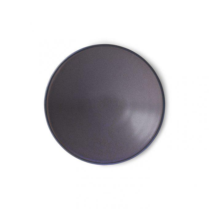 Home Chef Ceramics: Flat Bowl Purple